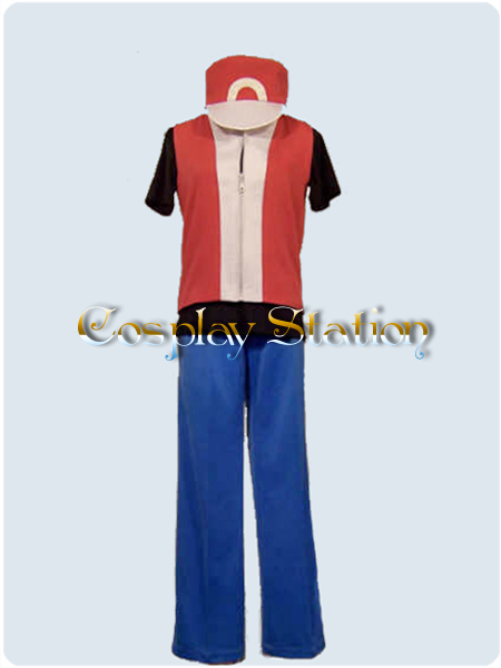 pokemon trainer red cosplay costume commission143 ebay. Black Bedroom Furniture Sets. Home Design Ideas